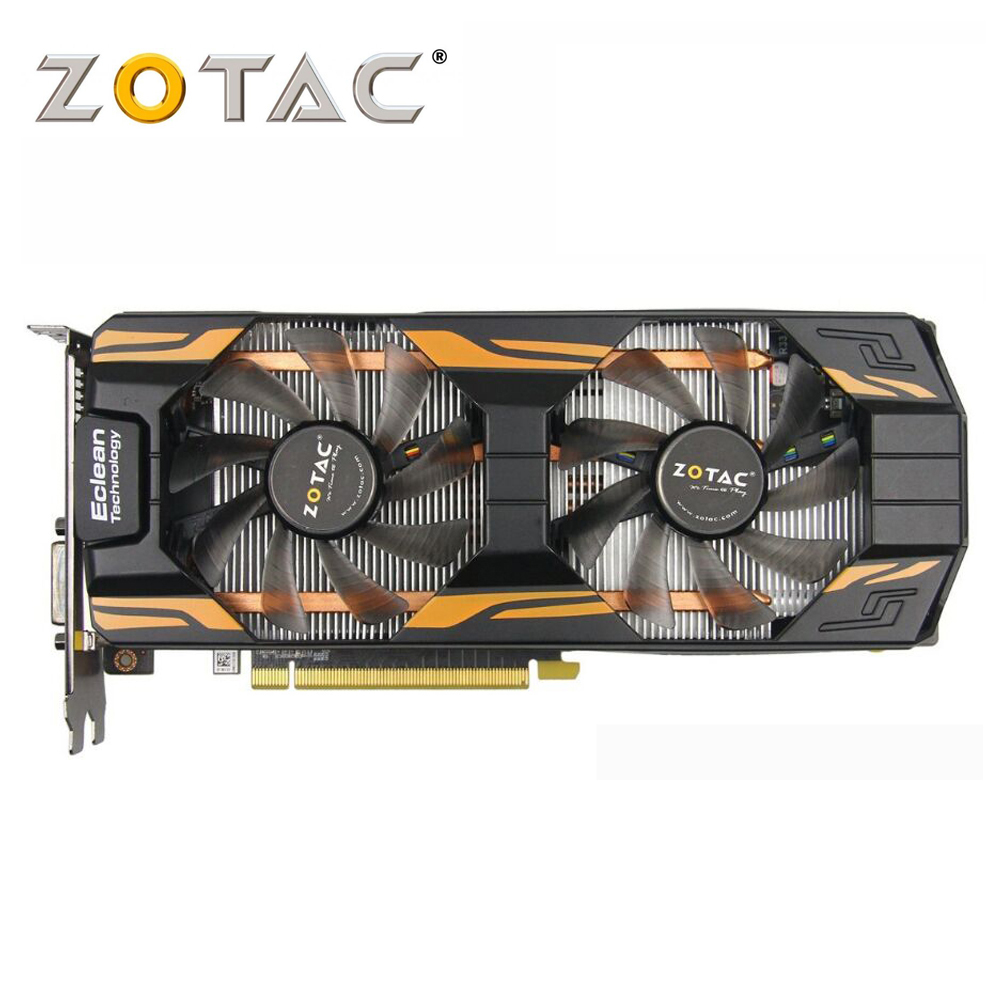 ZOTAC Video Card used GeForce GTX760 2GD5 Thunderbolt 256Bit GDDR5 Graphics Cards for nVIDIA GTX 760 2GB 2G Hdmi Dvi 750 ti цены онлайн