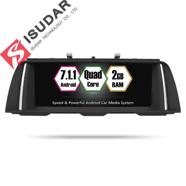Isudar Car Multimedia player 2 din android 7.1.1 10.25 Inch For BMW 5 Series F10/F11/520 (2011-2016) For CIC/NBT GPS Radio 32GB