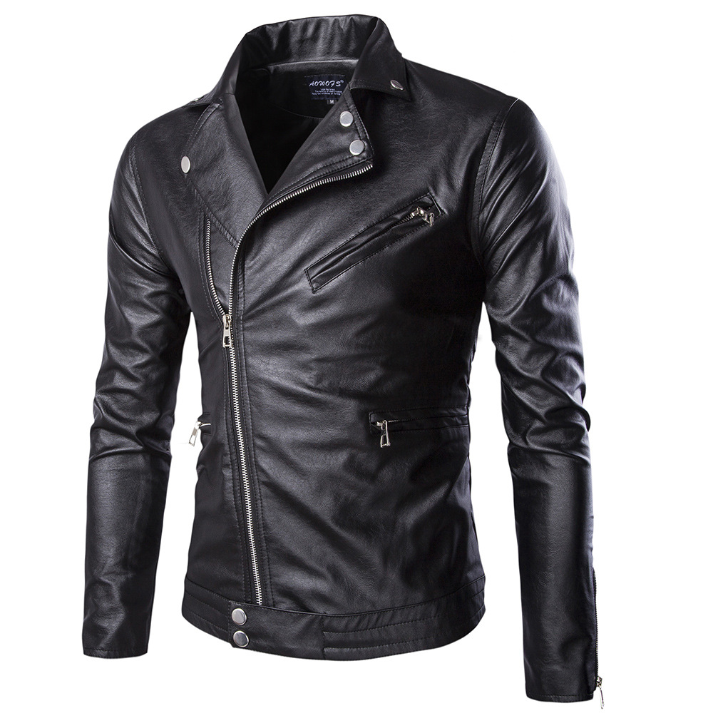 Autumn Spring Leather Clothing Male Casual Coats New Men Leather Jacket Male Clothing Male Business casual Coats Y262