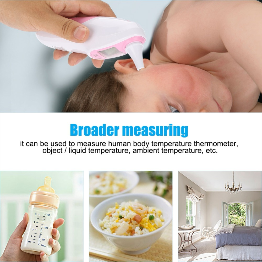 Ear Thermometer Baby Adult LCD Digital Ear Forehead Infrared Thermometer Temperature Monitor