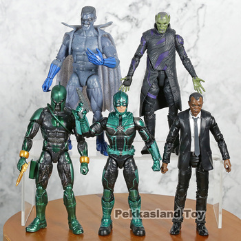 Marvel Genuine Captain Skrulls Nick Fury Starforce PVC Action Figure Resin Collection Model Toy Gifts 5pcs/set