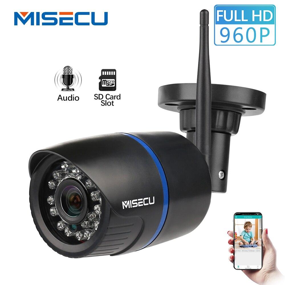 MISECU weitwinkel 2,8mm WiFi IP Kamera Audio Record 960 P HD Netzwerk 1.3MP SD karte und Wasserdicht Nignt vision Power Adapter