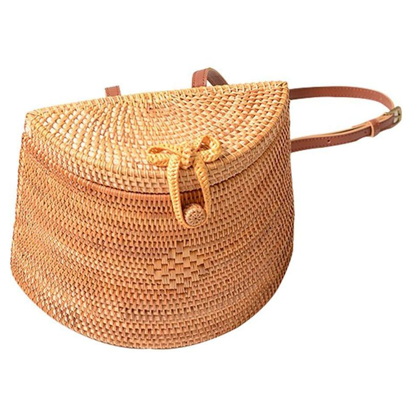 Straw Woven Backpack Bag For Girl Women,Rattan Ins Style Backpack Basket Hand-woven Bag Crossbody Bag Shoulder bagStraw Woven Backpack Bag For Girl Women,Rattan Ins Style Backpack Basket Hand-woven Bag Crossbody Bag Shoulder bag