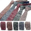 Novos Homens de Tricô listrado casuais magro laços Gravatas Clássico Da Moda Primavera Masculino tecido de poliéster Manta Mans Tie gravata