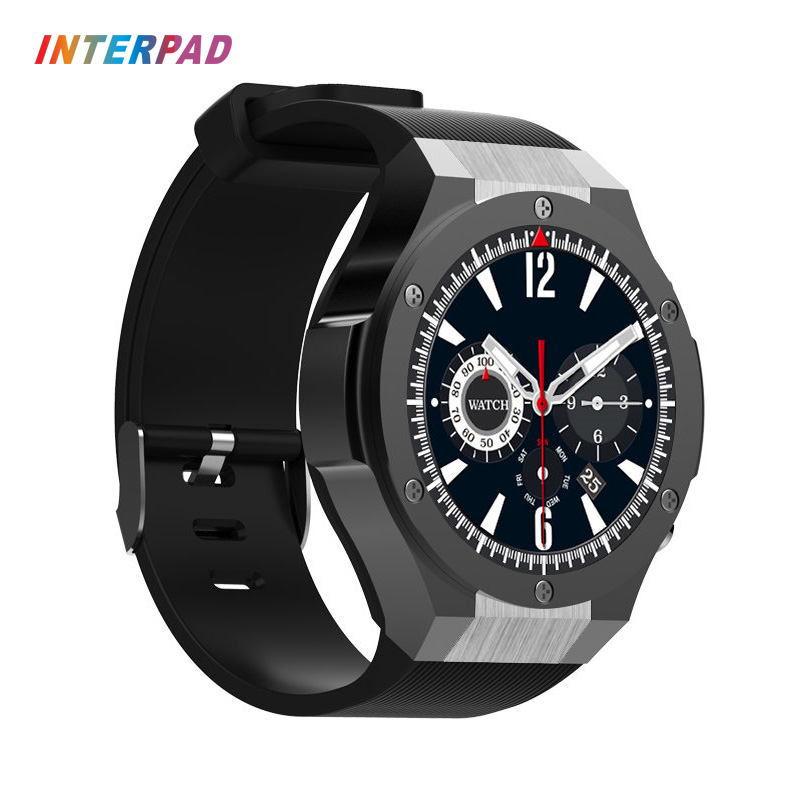 Interpad H2 GPS Smart Watch 3G Phone Clock 16GB ROM 1GB RAM Support APP Download With 5MP Camera Wifi Bluetooth 4.0 Smartwatch image