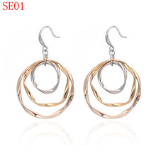 TYME new arrive fashion earring jewerly rose sliver gold color earring SE01