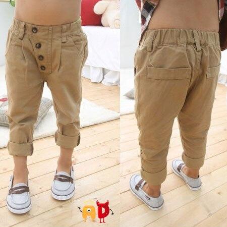 Aliexpress.com : Buy AD 2 6Y Cute Buttons Kids Harem Pants Khaki ...
