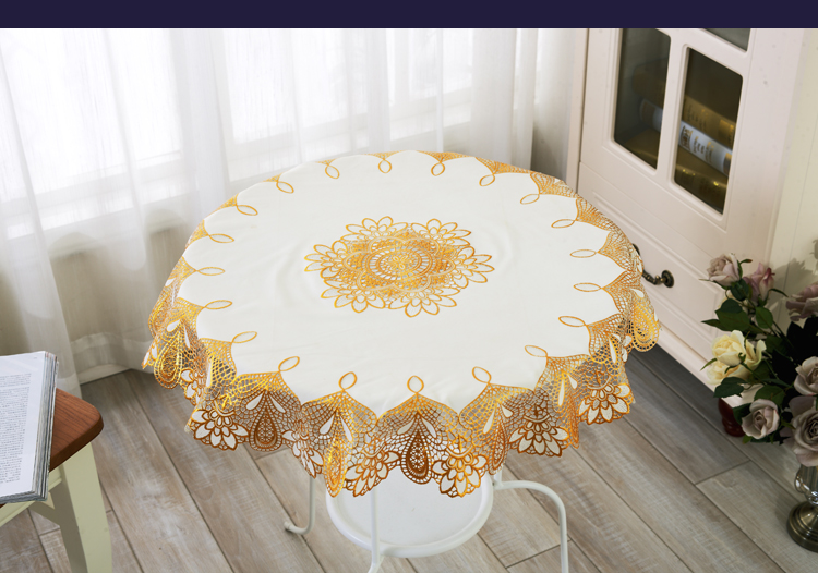 YJ 2757# Golden Diameter 70cm Round PVC Mat table cover cloth for hotel dining cushion Place mats/Anti skidding