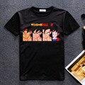 2016 El Más Nuevo Dragon Ball Z hombres boy camiseta Ocasional 3d de dibujos animados anime marca camiseta vetement homme camiseta hombres swag homme