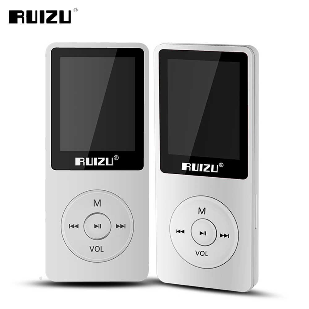 RUIZU X02 ультратонкий Mp3 плеер Usb 4 ГБ 8 ГБ 16 ГБ хранения 1,8 дюймов экран играть 80 h Высокое качество радио Fm Электронная книга музыкальный плеер