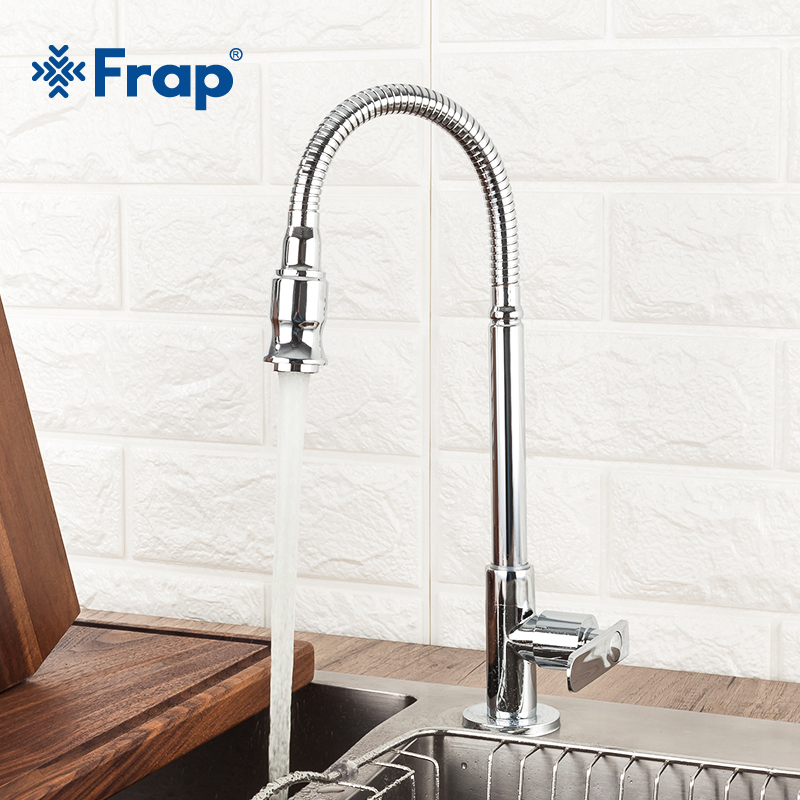 Frap Brass Kitchen Mixer Single Cold Water Faucet Flexible Single Lever Hole Water Tap Kitchen Faucet torneira cozinha Y40526Frap Brass Kitchen Mixer Single Cold Water Faucet Flexible Single Lever Hole Water Tap Kitchen Faucet torneira cozinha Y40526