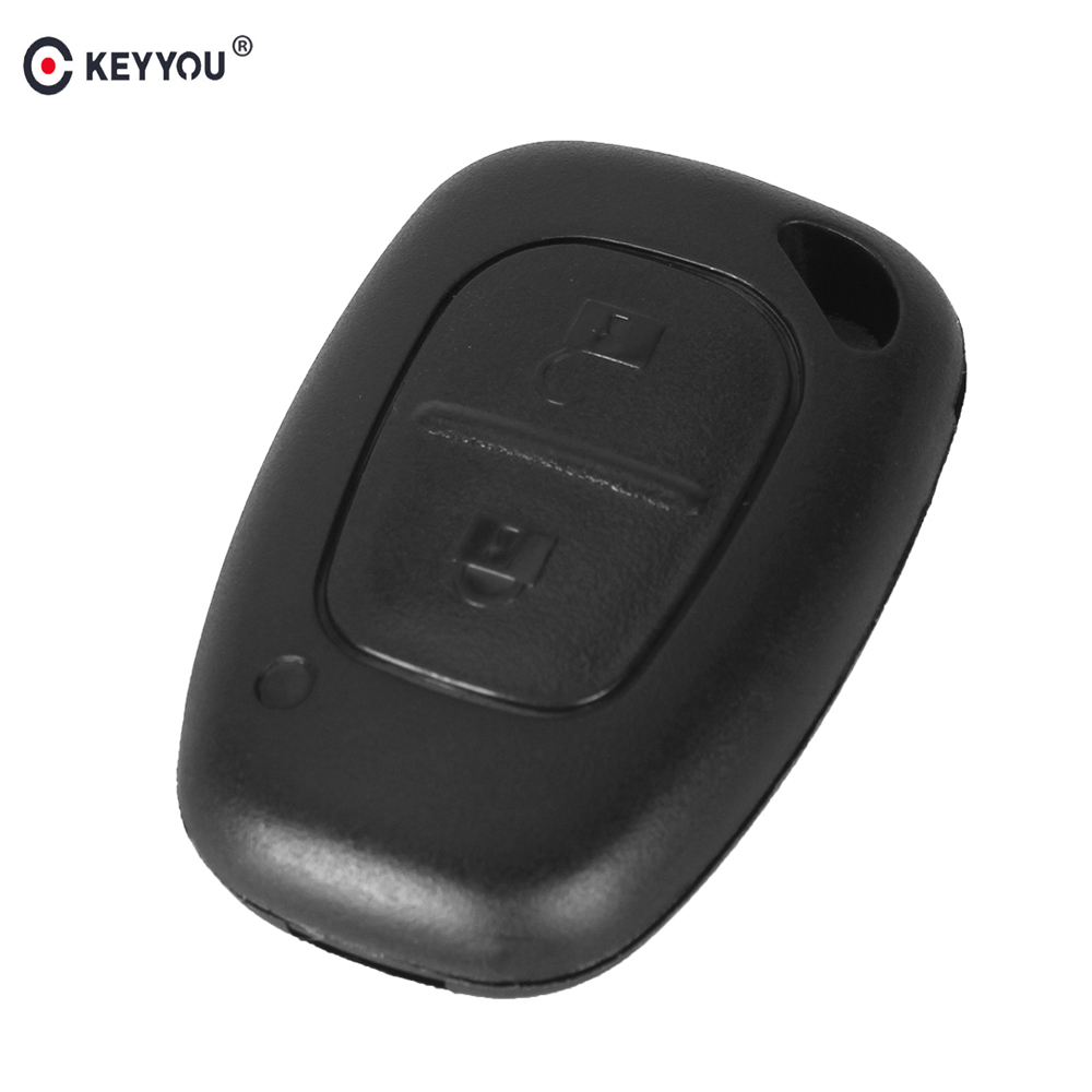 KEYYOU 2 Button Remote Car Key Shell Case Not Include Blade Fob For Renault Traffic Master Vivaro Nissan Fit VAC102/NE73 Blade