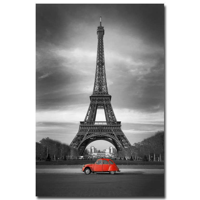 NICOLESHENTING Paris Eiffel Tower City Art Silk Fabric Poster Print 12x18 24x36 Inch Cityscape Wall Picture Room Decoration 19