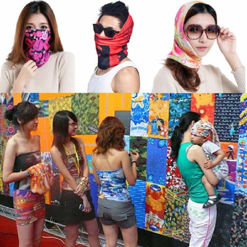 Fashion Seamless Tube Bandanas Women Shemagh Military Male Female Neck Gaiter Motorcycle Skull Magic Balaclava Scarf Headband