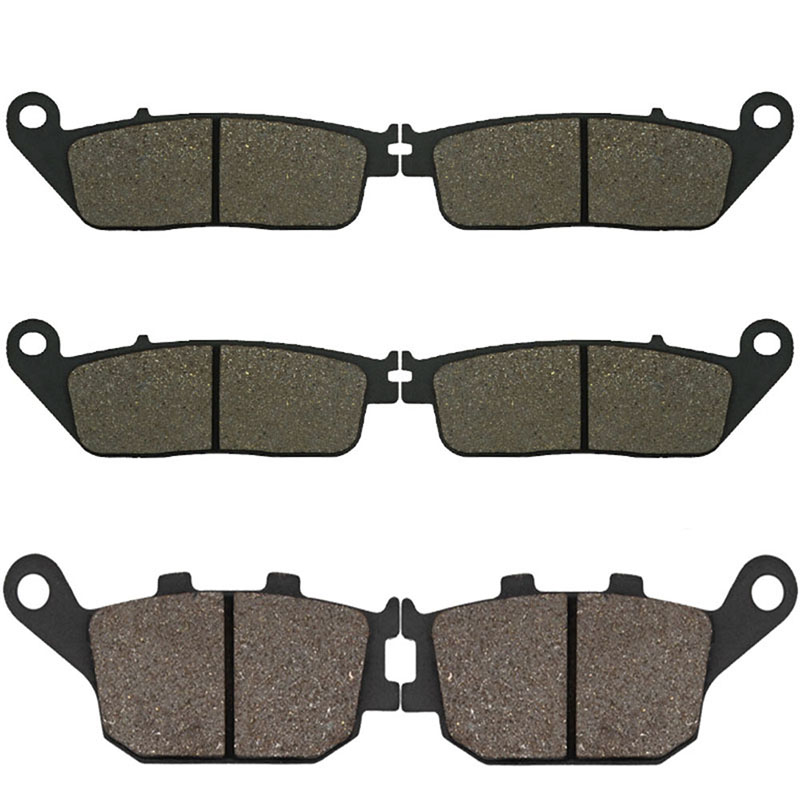 Cyleto Motorcycle Front and Rear Brake Pads for <font><b>HONDA</b></font> <font><b>CBF</b></font> <font><b>600</b></font> SA CBF600 SA CBF600SA ABS 2004 2005 <font><b>2006</b></font> 2007 2008 image