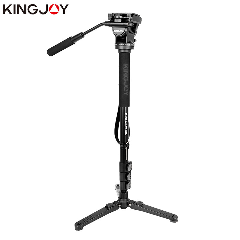 Kingjoy MP208F Set Professional Monopod Set Dslr For All Models Camera Tripod Stand Para Movil Flexible Tripe Stativ SLR DSLR