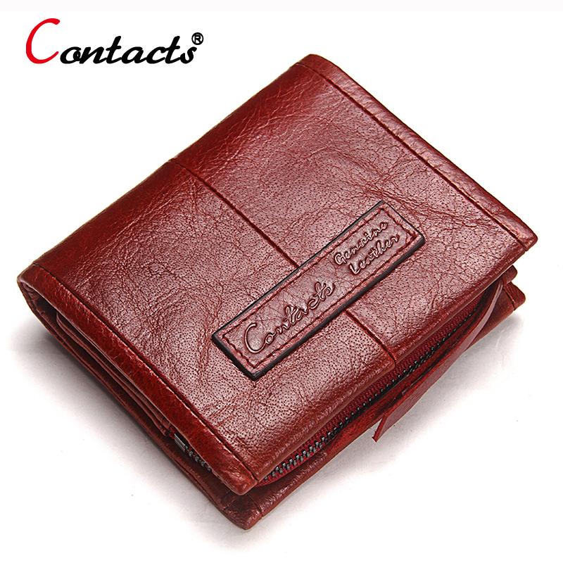 CONTACT'S Genuine Leather women Wallet Women coin Purse female clutch bag ladies money card holder small wallet with coin pocket simple organizer wallet women long design thin purse female coin keeper card holder phone pocket money bag bolsas portefeuille