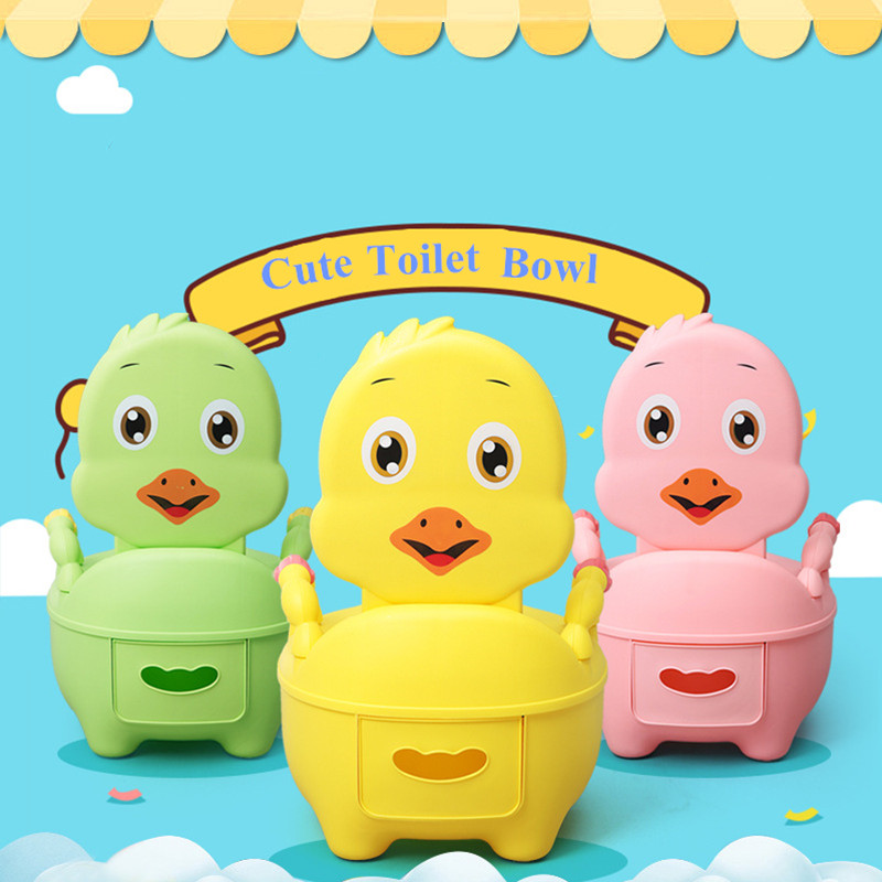 Baby Girl Potty Toilet Bowl Cute Cartoon Training Pan Toilet Seat Children Bedpan Portable Urinal Comfortable Backrest Pot hot sale lovely baby children toilet baby drawer type bedpan children urinal potty training baby toilet soft stable stool seat