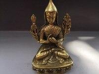 Chiny stary tybet buddyzm tybetański tara posąg buddy bodhisattwa miedziany posąg w Posągi i rzeźby od Dom i ogród na