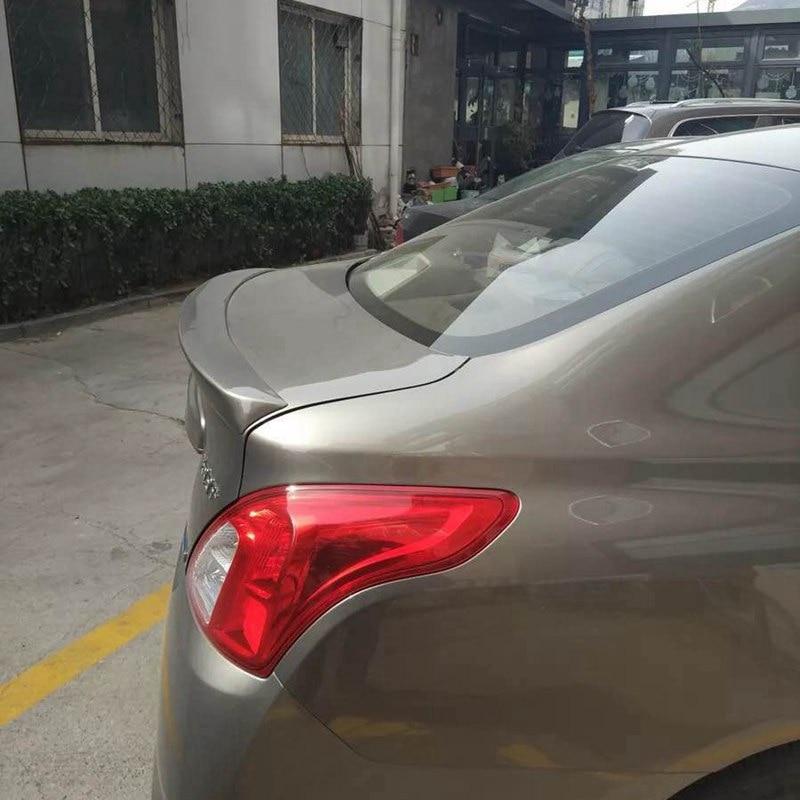 For Sunny Spoiler High Quality ABS Material Car Rear Wing Primer Color Rear Spoiler For Nissan Sunny Versa Spoiler 2007 2015