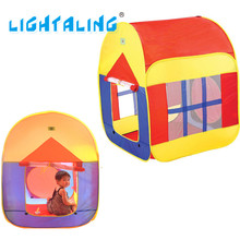 Coloré Jouer Casa Tente Enfants Plage Jouer Maison Bébé Pliable Enfants Maison avec Fenêtre Intérieure et Extérieure Jouets LIGHTALING