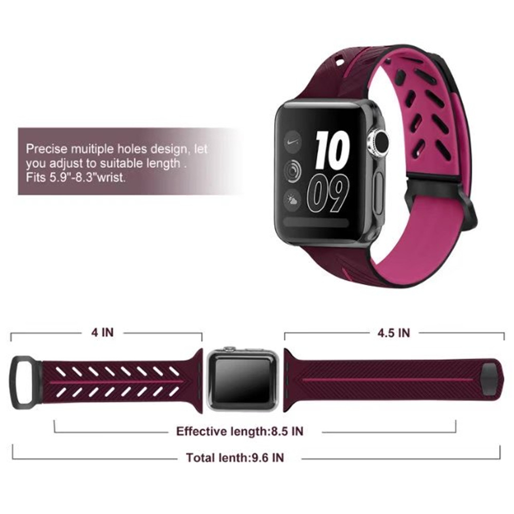 Sport strap For Apple Watch band 42mm 44mm 38mm 40mm iWatch band 4 3 2 accessories silicone watchband Bracelet double wristbeltSport strap For Apple Watch band 42mm 44mm 38mm 40mm iWatch band 4 3 2 accessories silicone watchband Bracelet double wristbelt