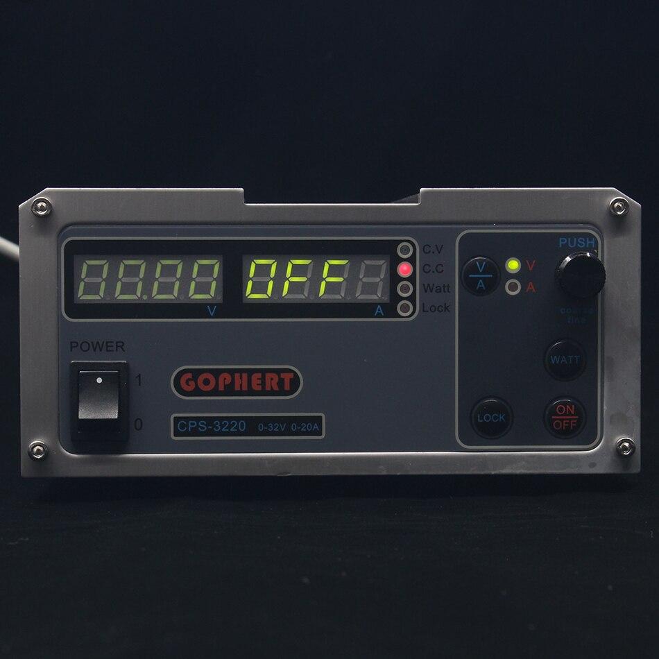 CPS-3220 DC alimentation EU/UK/US adaptateur OVP/OCP/OTP faible puissance 110 V-230 V 0-32 v 0-20A