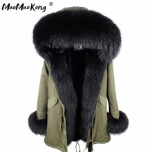Abrigos mujer invierno 2020 מיני אמיתי פרווה Parka נשים חורף סלעית מעיל מעיל מעיילי פו פרווה מעיל בטנת מעיל ארוך מעיל