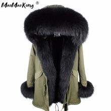abrigos mujer invierno 2020 mini True Fur Parka women winter Hooded jacket coat Parkas faux fur coat Lining jacket long coat