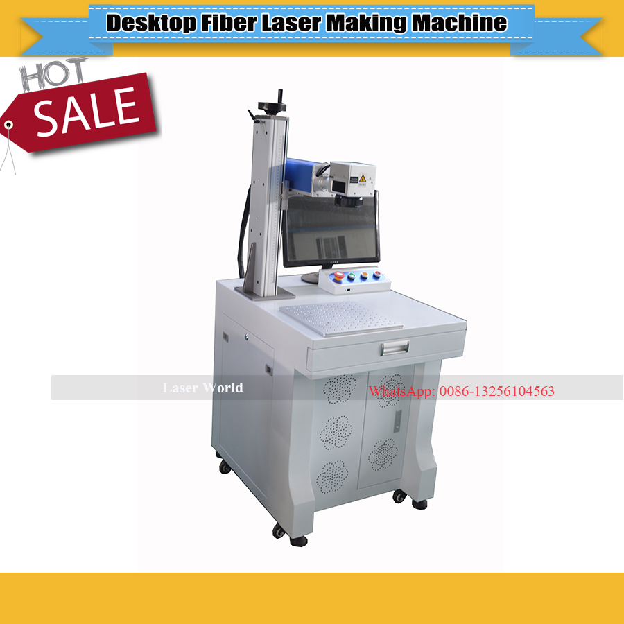 CNC Laser Fiber Marking Machine Work Size 20W 150*150mm  Metal Making Machine  Fiber Laser Engraver For Stainless Steel