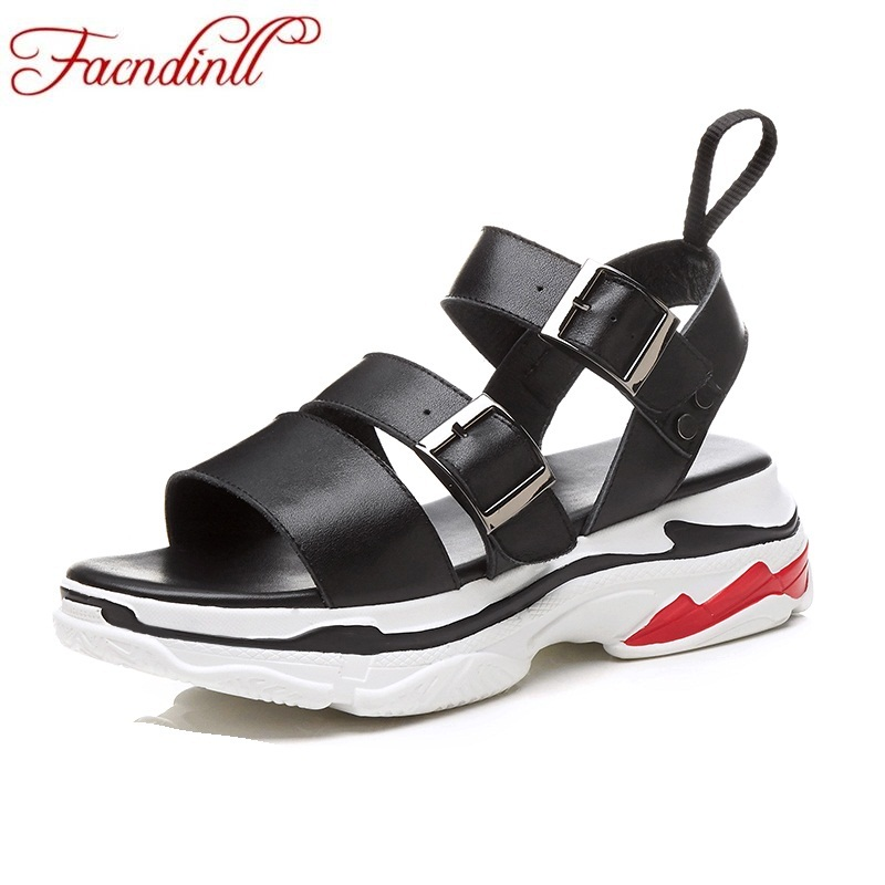 FACNDINLL fashion genuine leather summer shoes woman wedge sandals high heels casual open toe platform shoes ladies date shoes facndinll new women summer sandals 2018 ladies summer wedges high heel fashion casual leather sandals platform date party shoes