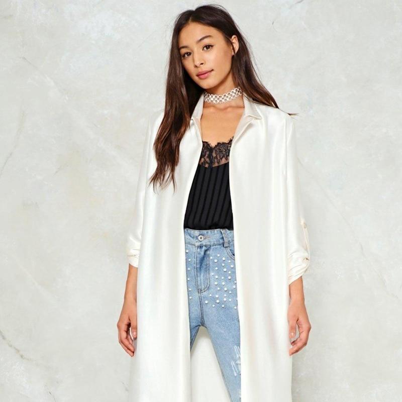 Para Las Outwears Mujeres Oficina Mujer Giro Señora Sólido Beige De Manga Blusa Grosgrain Larga abajo Ropa 2018 Collar Haoyihui Hyh 4SfXZZ