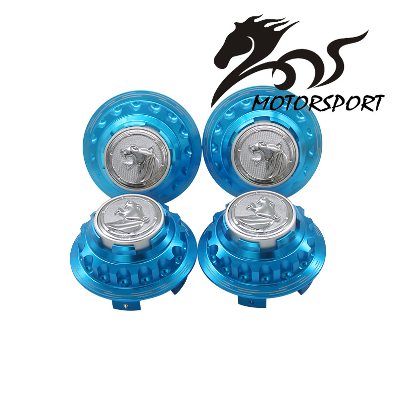 aluminum leopard logo wheel hub center hub caps cover fit. Black Bedroom Furniture Sets. Home Design Ideas