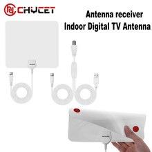 Numérique Intérieure Amplifiée Antenne TV Vue TV Plat HD avec Amplificateur 25 Miles Gamme numérique tv amplificateur de signal antenne antennes