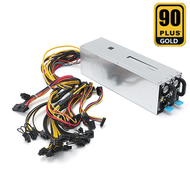 110V-240V Miner Power Supply 1600W Mining Machine Power Supply For Eth Bitcoin Miner Antminer Server S7 S9 T9 E9 A7