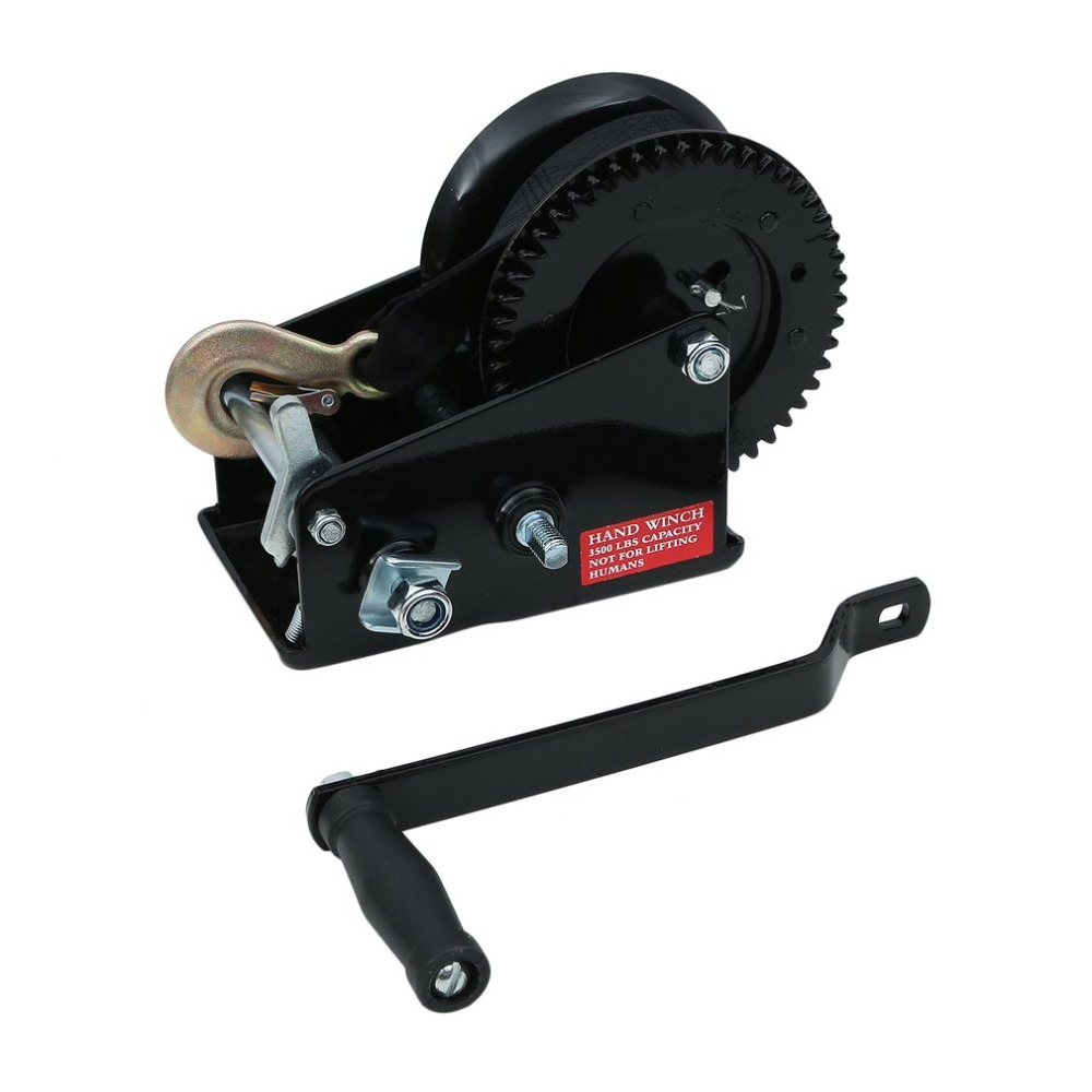Professional Manual Winch With Strap 1500kg 8 Meters Boat Trailer Lifting Sling Universal Car Hand Power Puller NEW professional manual winch with strap 1500kg 8 meters boat trailer lifting sling universal car hand power puller new