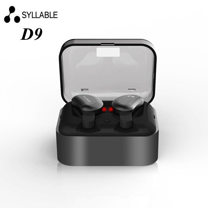 DHL Free shipping SYLLABLE D9 Twins Bluetooth Earphones True Wireless Stereo Earbud Sweatproof wireless sports bass earphones dhl ems ismeca handler conversion kit lfbga160 c3 d9