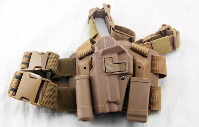 Tactical Drop Leg left-hand Thigh Holster With 2 Pouches for SIG SAUER P226 P228