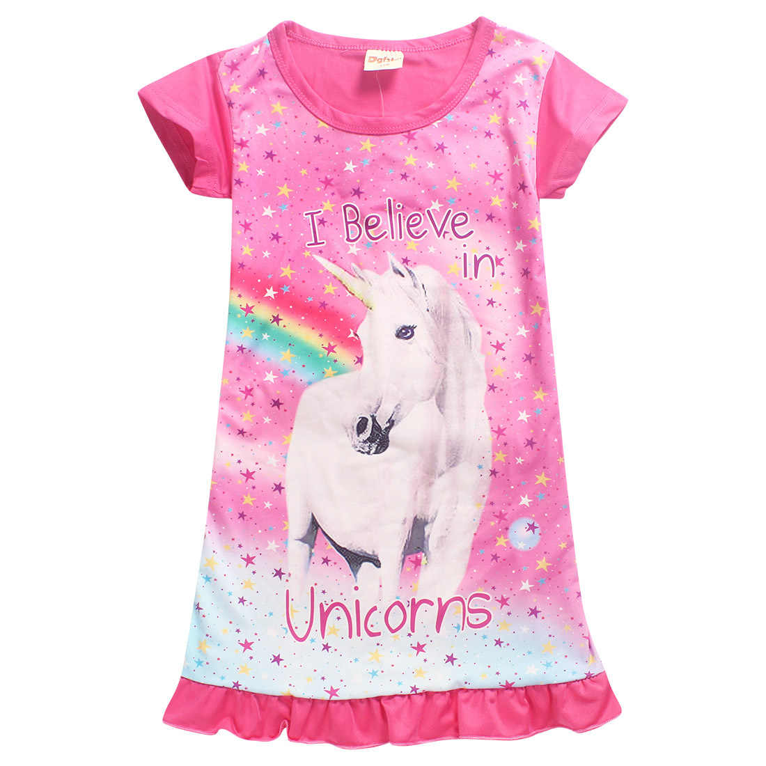21d95f92a9d0 Detail Feedback Questions about Girls Dresses 2019 Summer Cartoon Baby kids  Nightgowns Girl Princess Unicorn Costume Children Clothing for 3 10Y on ...