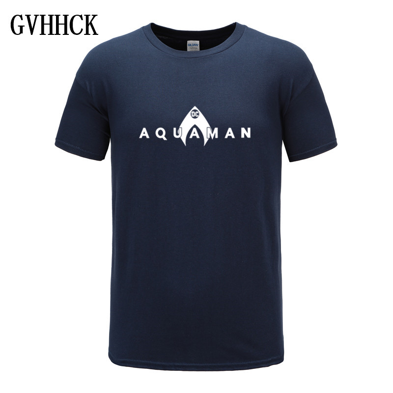 2019 New Fashion Aquaman T-Shirt Men Cotton Short Sleeves Casual Male Tshirt Movies Aquaman T Shirts Men Tops Tees Free Shipping
