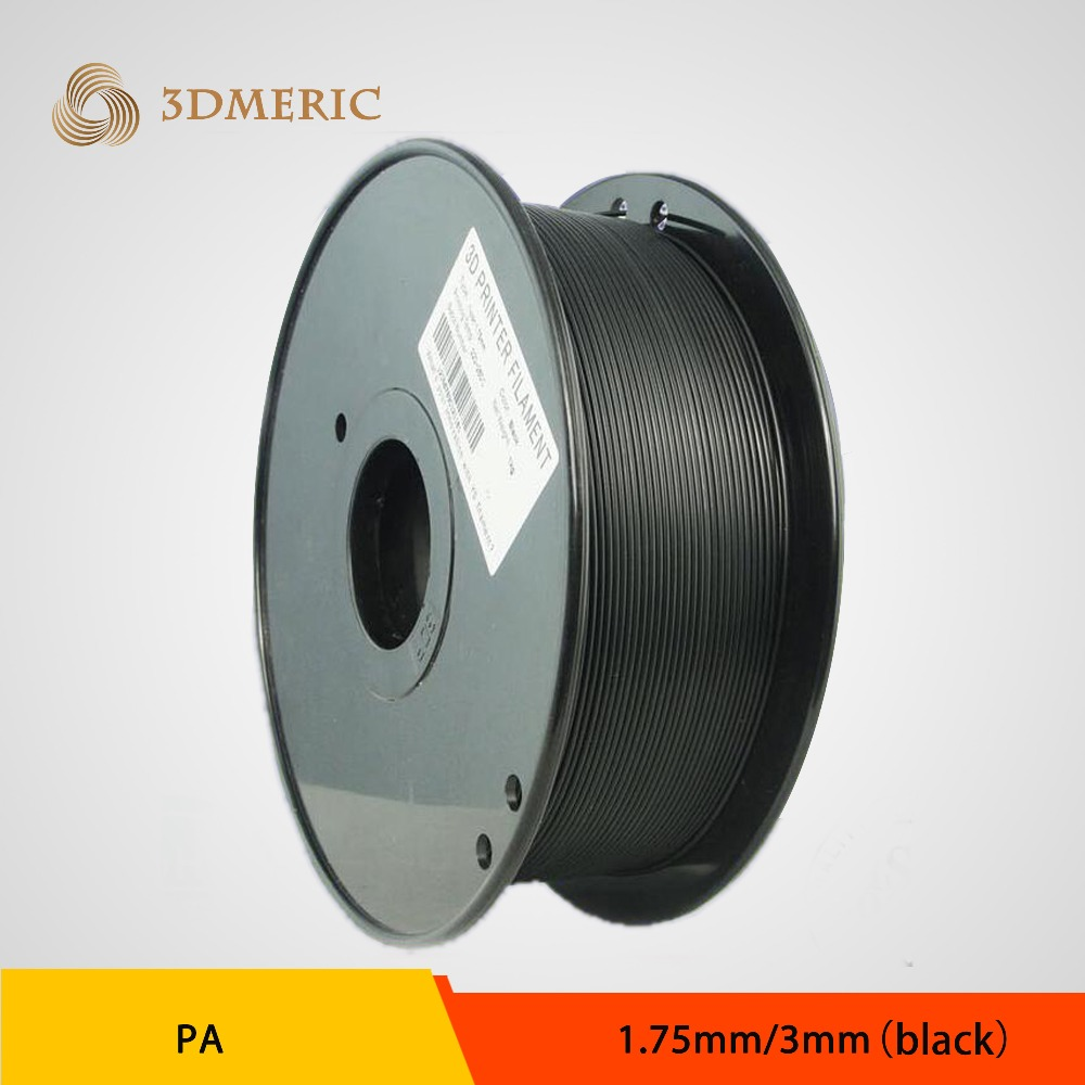 Black Color PA Nylon 3D Printer Filament 1.75mm 3.0mm 1kg