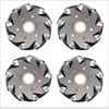 4 Inch 100mm Aluminum Mecanum Wheels Set Basic 2 Left 2 Right For Robot Car