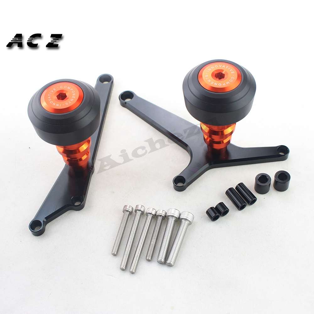 ACZ Motorcycle Aluminum Frame Slider Guard Anti Crash Protector Pads Falling Protection For KTM RC390 RC