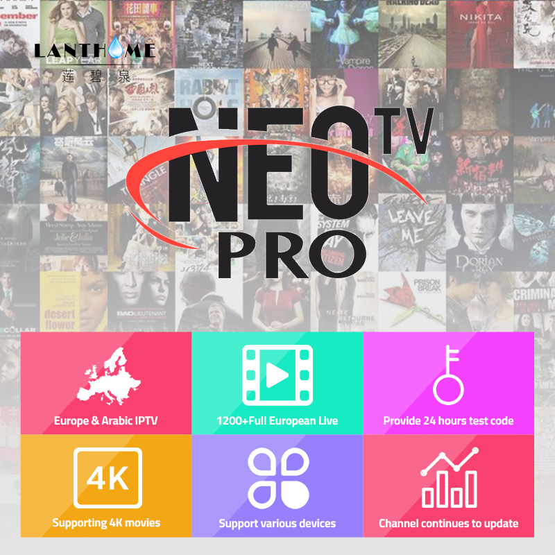 Neotv Pro French Iptv Subscription 1300 Live TV VOD Movie Channels French Arabic UK Europe Neo One Year Smart TV Mag Box Android