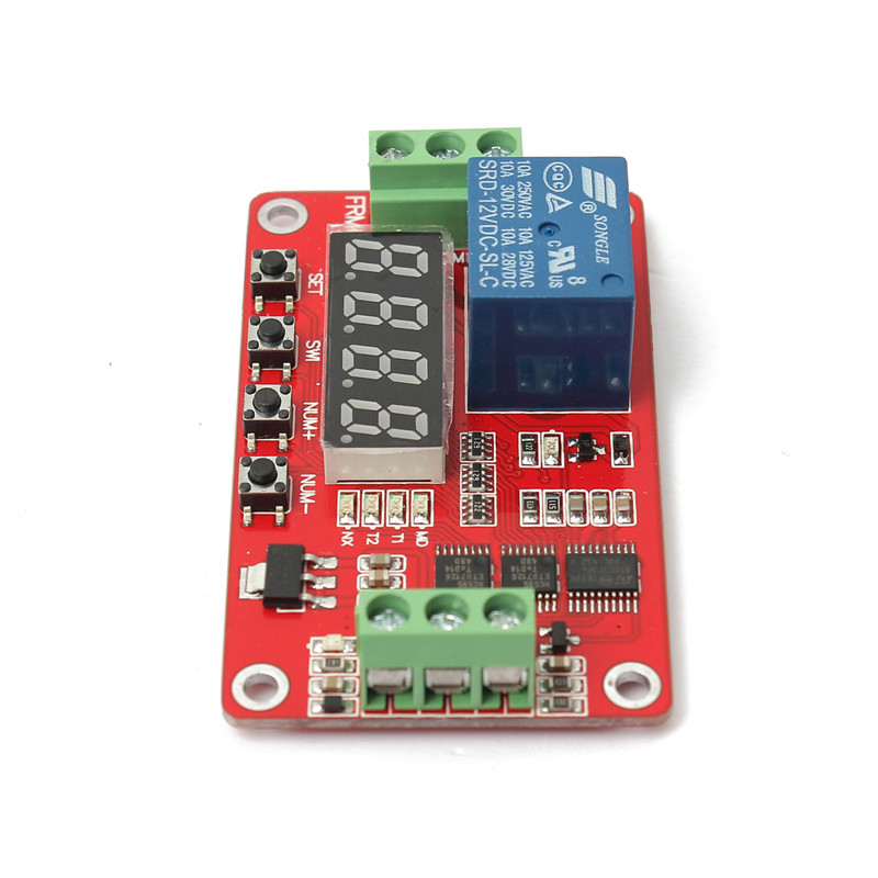 12V DC Multifunction PLC Module Delay Time Switch module/cycle/delay/timer/switch/self lock/module /18 kinds of function dc 12v led display digital delay timer control switch module plc