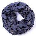 Gaviota infinito de la bufanda mujeres gris sarga bufandas hijab echarpe cachecol inverno anillo del cuello de viscosa chales y bufandas foulard cape