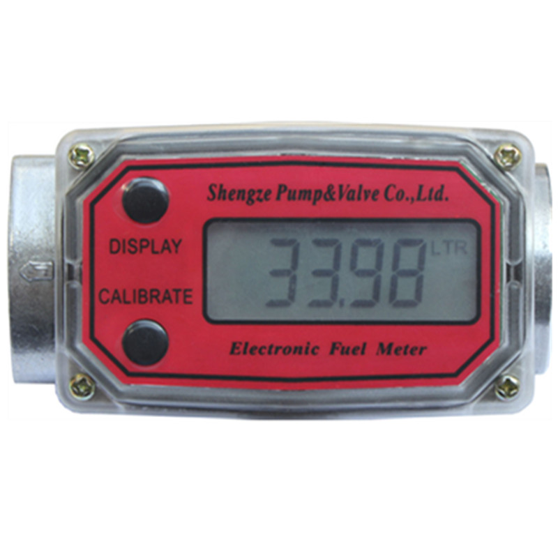 Digital Turbine <font><b>Flow</b></font> Meter Flowmeter Gauge Caudalimetro Electronic <font><b>Flow</b></font> Indicator Sensor Counter Petrol Fuel Plomeria Water DN25