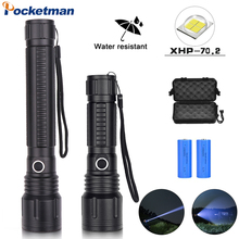 Powerful Flashlight XHP70/XHP50 Led Flashligh 5Modes Zoom Led Torch distance 500m camping hunting Lantern  18650 or 26650 xhp70 powerful led flashlight tactical zoom torch flashlight rechargeable lantern cree xhp70 10000lm camping hunting lamp 18650