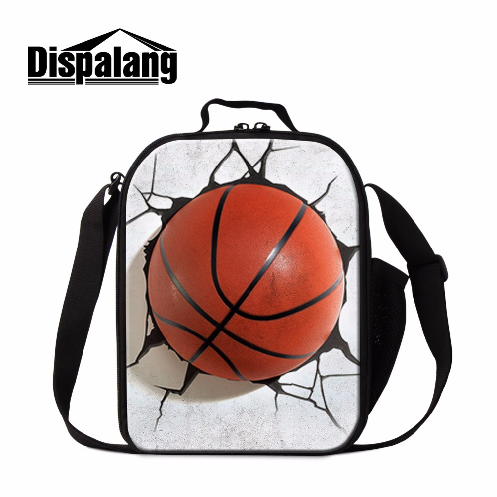 Dispalang Ball 3D Printed Cooler Bag Cool Insulated Lunch Container for Kids Sporty Thermal Lunch Box For Children School Meal