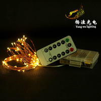 Eight functions remotely waterproof battery box of copper lamp string of colored lights The production of wholesale|Lighting Strings| |  -